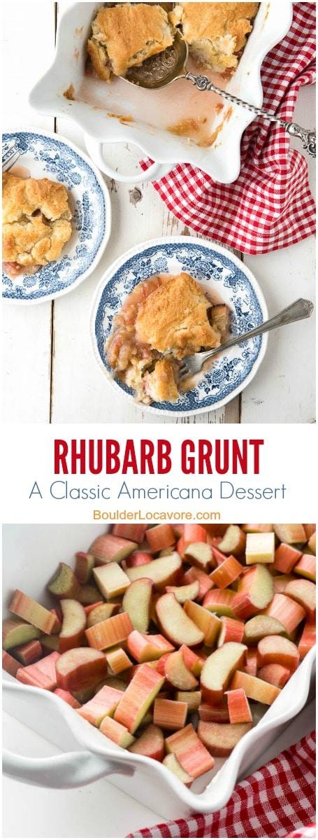 rhubarb grunt collage