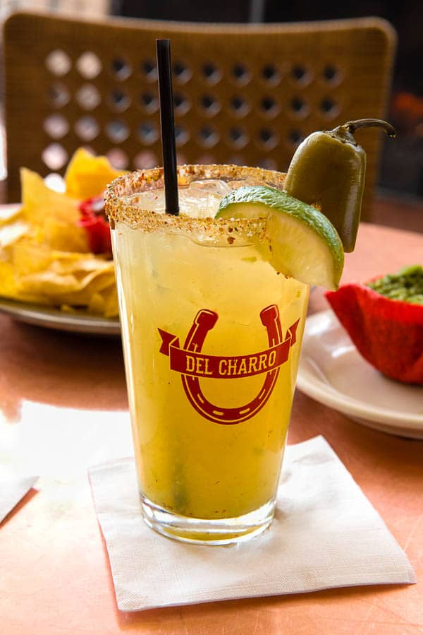 Santa Fe Trail Margarita (Del Charro Saloon at Inn of the Governors) - BoulderLocavore.com