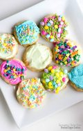 Springtime Gluten-Free Frosted Sugar Cookies