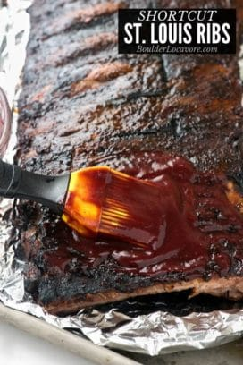 St Louis Ribs title image with homemade barbecue sauce