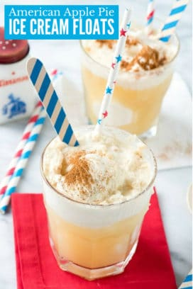American Apple Pie Ice Cream Floats