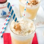glasses filled with American Apple Pie Ice Cream Floats