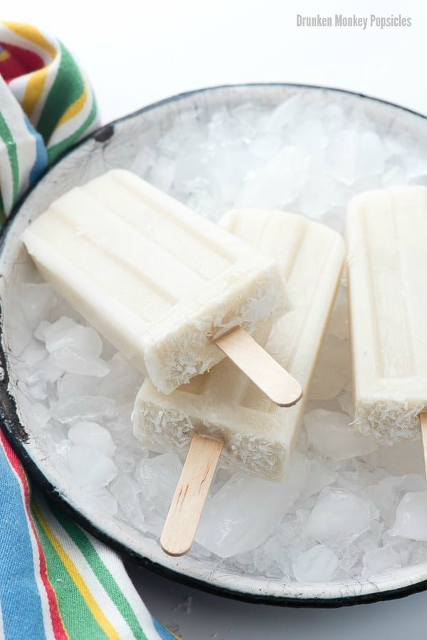 Drunken Monkey Popsicles. Tropical, summery 3 ingredient boozy popsicles that you are sure to love! - BoulderLocavore.com