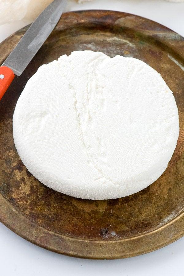 Homemade Paneer cheese