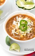 Slow Cooker Shortcut Red Posole Soup