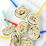 Smoked Turkey Spinach Pinwheels with fresh Herb Cream Cheese. Great texture, flavor for a filling snack or meal! - BoulderLocavore.com