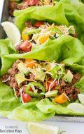 10 Minute Taco Lettuce Wraps