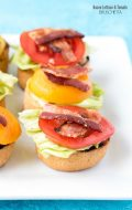 Bacon Lettuce and Tomato Bruschetta