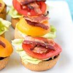Bacon Lettuce and Tomato Bruschetta appetizers
