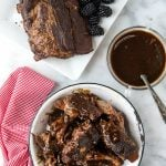 Slow Cooker Spicy Baby Back Ribs with Blackberry Preserves