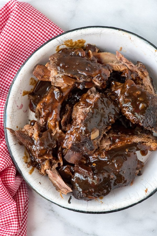 Slow Cooker Spicy Cherry-Cola Baby Back Ribs with Blackberry Preserves - BoulderLocavore.com