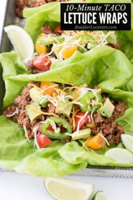 Taco Lettuce Wraps title image