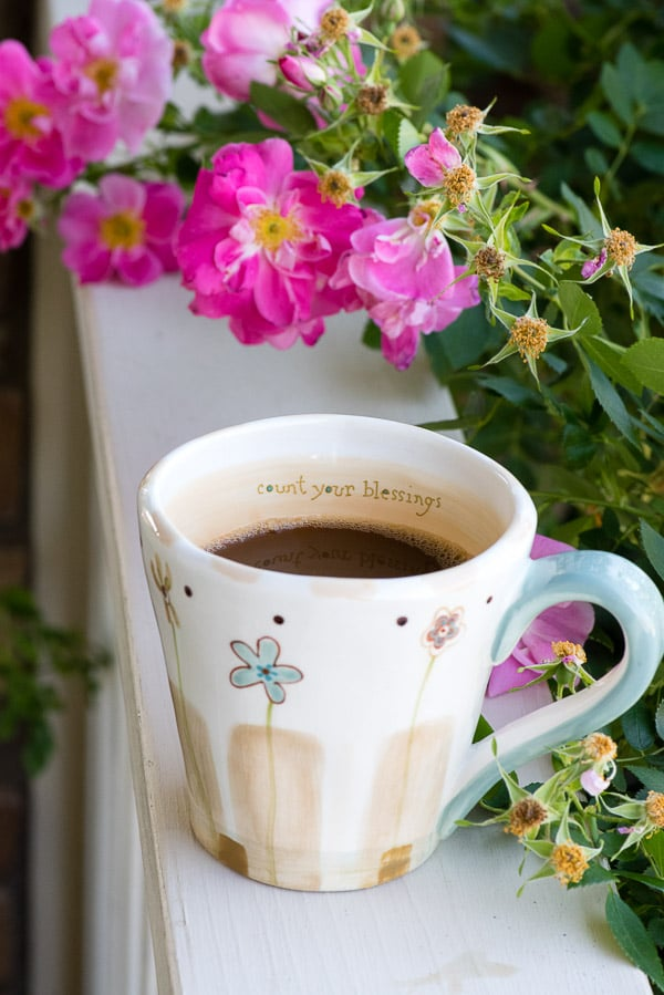 The Perfect Cup of Coffee - Count Your Blessings cup - BoulderLocavore.com