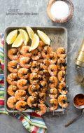 Grilled Spicy Salt and Pepper Shrimp Skewers