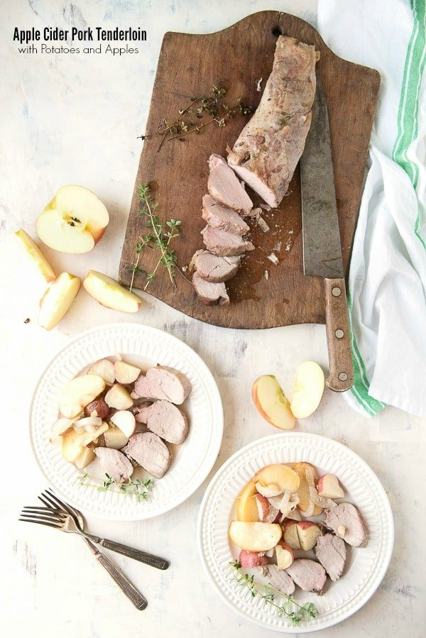 Apple Cider Pork Tenderloin with Potatoes and Apples