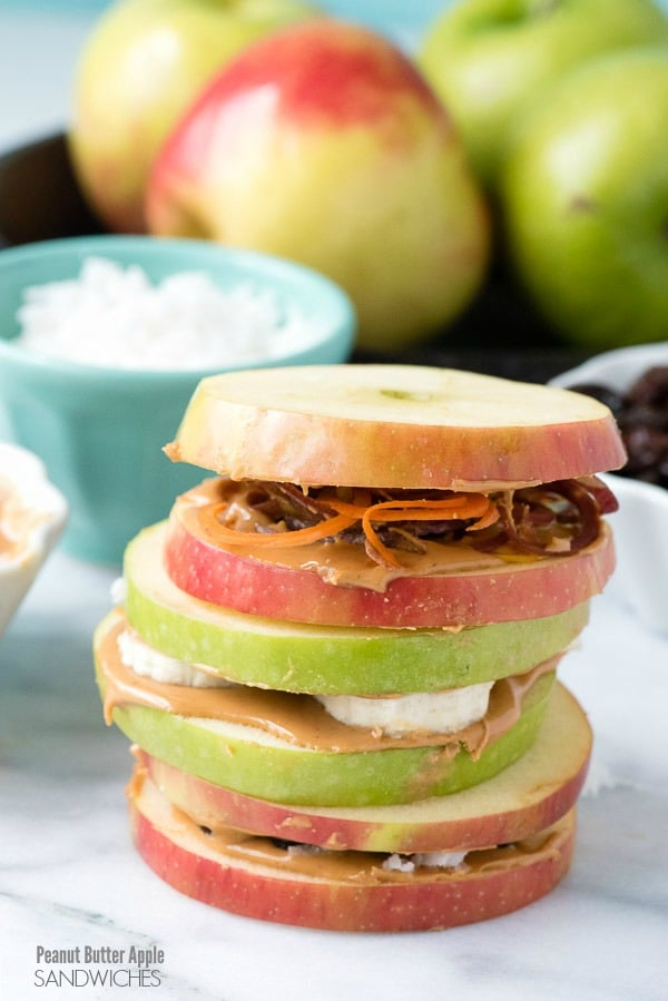 Apple Peanut Butter Sandwiches. A delicious, healthy twist on traditional sandwiches with so many fun options! - BoulderLocavore.com