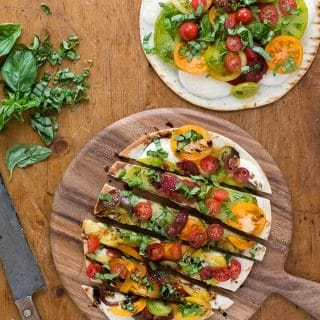 Grilled Caprese Pizza sliced