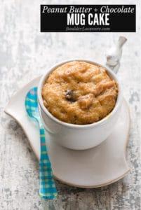 Peanut Butter Chocolate Mug Cake recipe title image