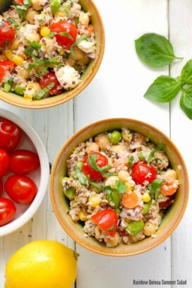 Rainbow Quinoa Summer Salad