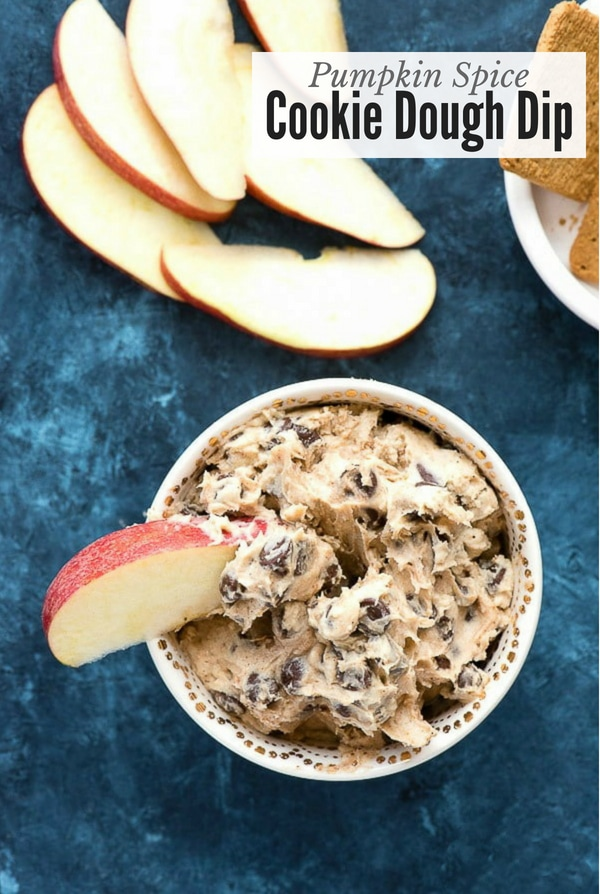 Pumpkin Spice Cookie Dough Dip with Apples