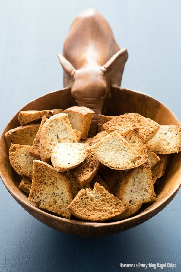 Homemade Everything Bagel Chips. Crunchy on the outside, soft on the inside Everything bagel chips are tasty and great with any dip or spread. - BoulderLocavore.com