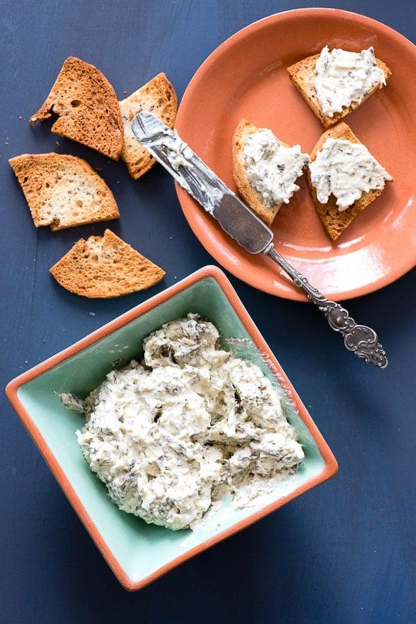 Homemade Everything Bagel Chips with Hot Artichoke Dip - BoulderLocavore.com