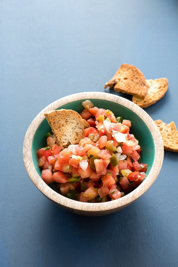 Homemade Everything Bagel Chips with Pico de Gallo - BoulderLocavore.com