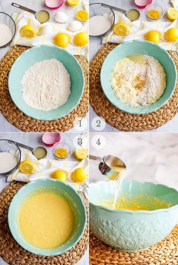 Lemon Cupcakes recipe steps 1-4