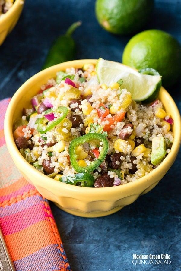 Mexican Green Chile Quinoa Salad