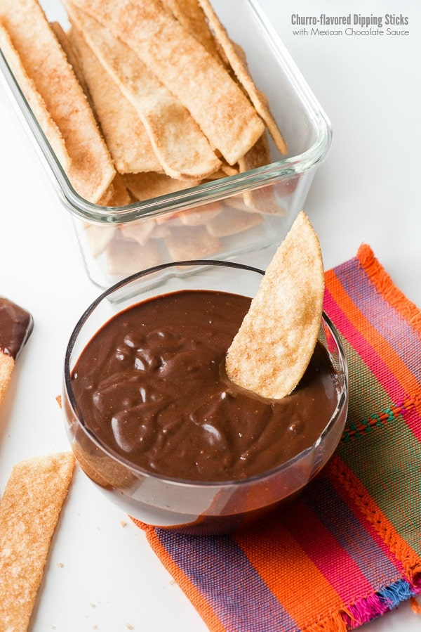 Churro-flavored Dipping Sticks & Mexican Chocolate Sauce