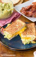 Grilled Triple Cheese Bacon Guacamole Sandwich