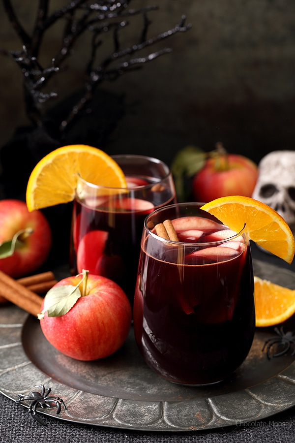 Red Apple Cider Sangria | Chocolate Moosey