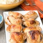 Roasted Sweet Tea Chicken Thighs