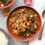 Slow Cooker Chorizo Kale Soup