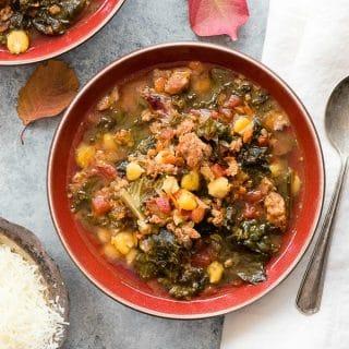 Slow Cooker Chorizo Kale Soup