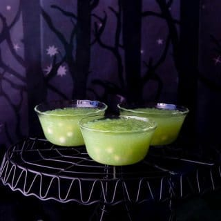 Swampy Frog Egg Pudding. A classic dessert takes a Halloween twist to become frightfully delicious for your Halloween party! Dairy-free, gluten-free, fright-filled. BoulderLocavore.com