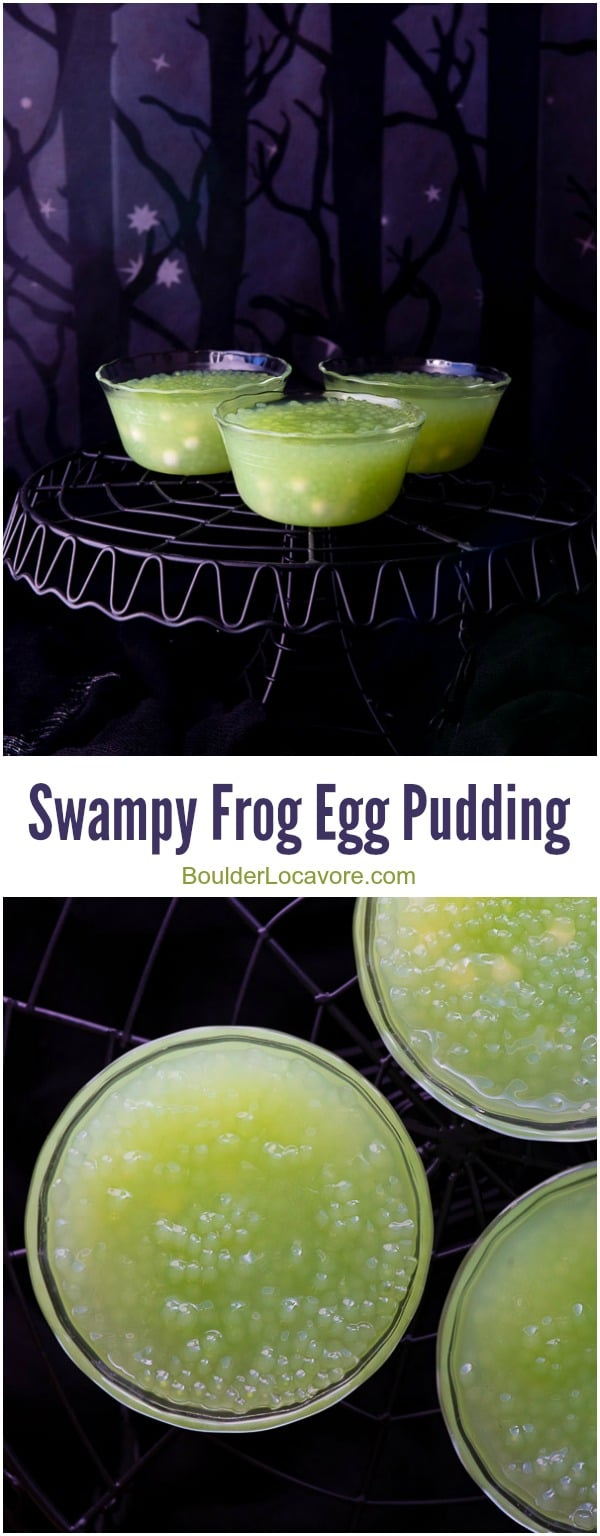 frog eggs pudding collage