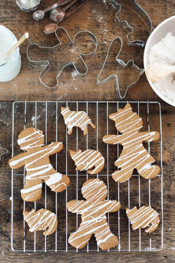 Iced Gingerbread Men and Ginger Cats Gluten-Free | Snixy Kitchen