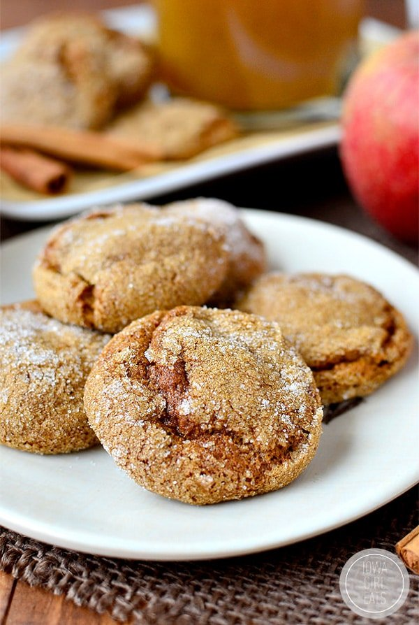 Soft Batch Apple Cider Gingersnap Cookies Gluten-Free | Iowa Girl Eats