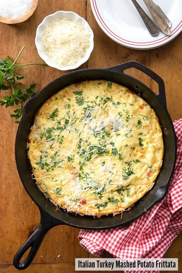 Italian Turkey Mashed Potato Frittata