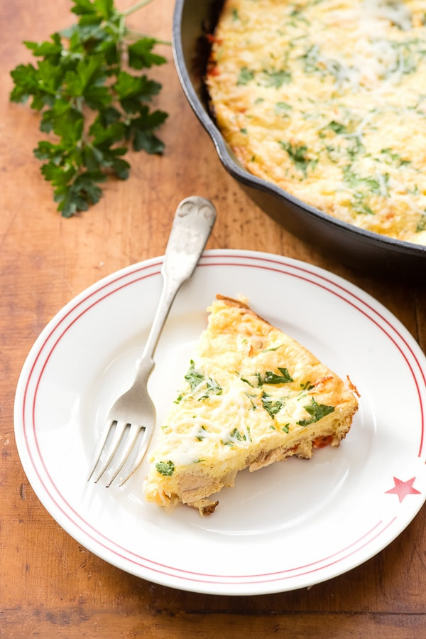 Italian Turkey Mashed Potato Frittata BoulderLocavore.com. Quick to make, naturally gluten-free and a great way to use up holiday leftovers!