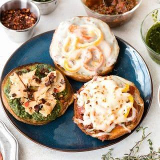 Personal Pizza Bagels. Individual mini pizzas made from your choice of ingredients. Everyone can be unique. Great for parties. Gluten-free or regular. BoulderLocavore.com