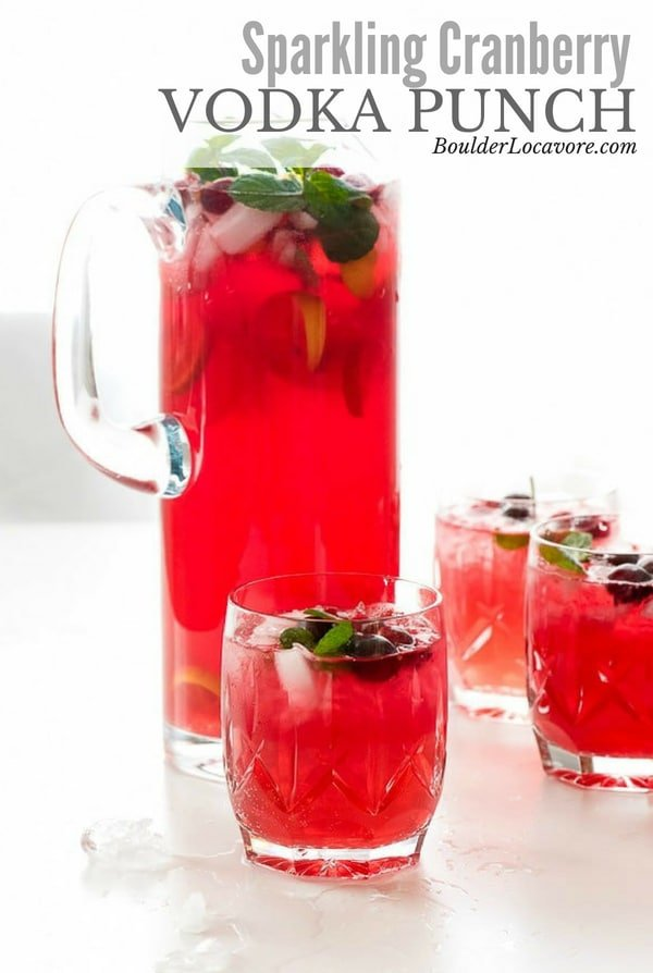 Sparkling Cranberry Vodka Punch