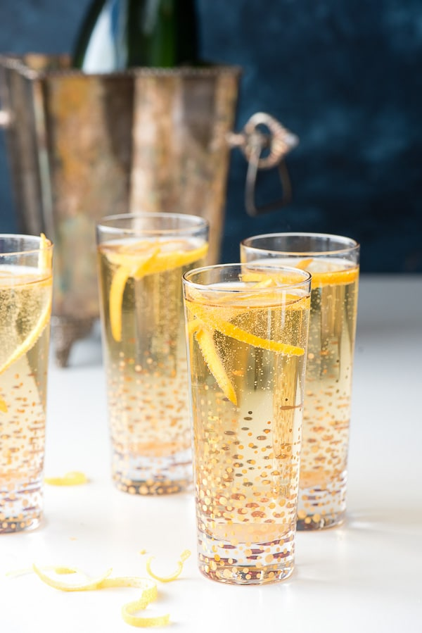 Classic Champagne Cocktail. A quick and easy way to jazz up a glass of Champagne for any celebration! - BoulderLocavore.com