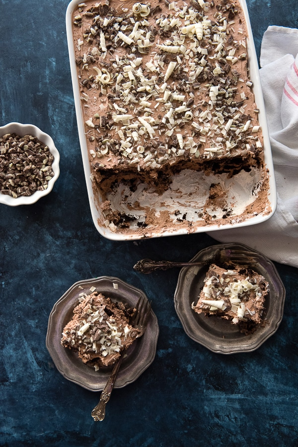 Chocolate Mint Ice Box Cake from above