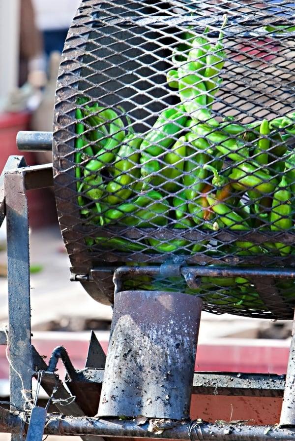 Green Chili Roasting at Farmer's Market