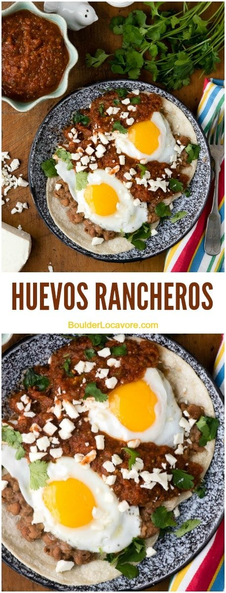 A Huevos rancheros and Bean collage
