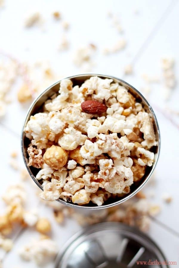 White Chocolate Brown Sugar Cinnamon Kettle Corn | Diethood