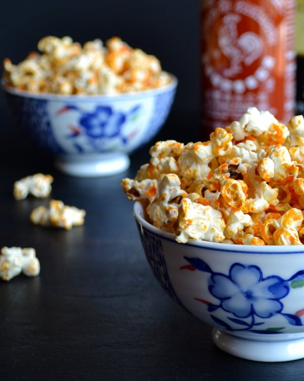 Sriracha Popcorn | Taste Love and Nourish