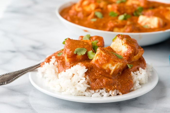 Paneer Tikka Masala recipe. A fresh, spicy Indian vegetarian dish with homemade paneer (cheese). A mouthwatering recipe you'll love! - BoulderLocavore.com